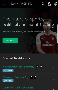 placing mobile bets with smarkets