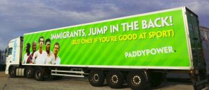 Paddy Power asks immigrants to jump in back