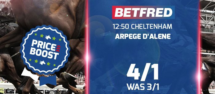 Price boosts - Betfred