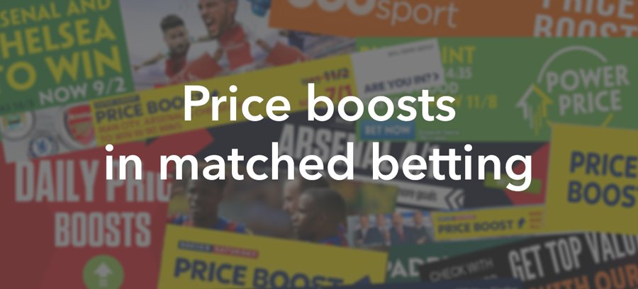 Price boosts in matched betting