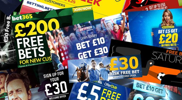 Bookmakers free bets in match betting