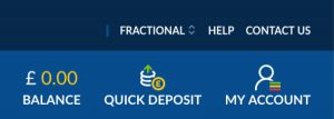 Betting deposit with PayPal