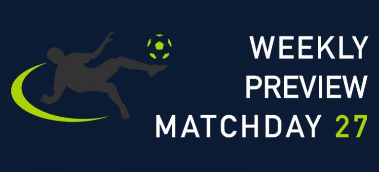 Premier League preview 27
