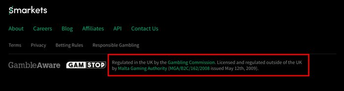 Smarkets regulated by Gambling Commission