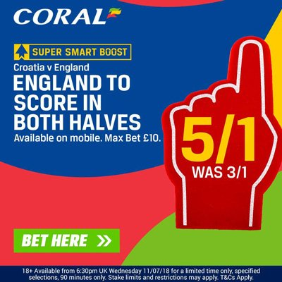 Coral odds boost