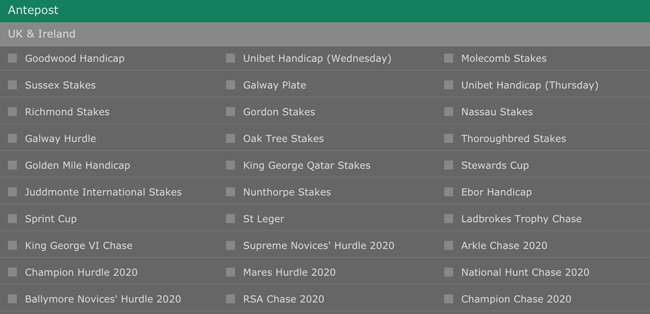Ante post betting - Bet365