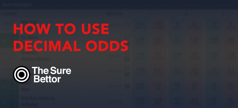 How to use decimal odds