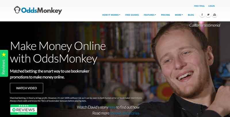 OddsMonkey homepage