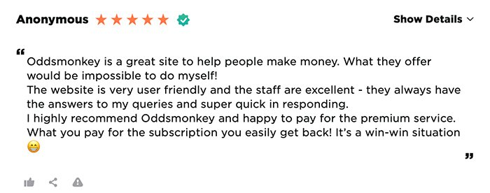 OddsMonkey customer review