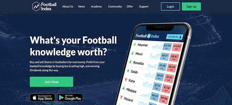 Buying players on the Football Index