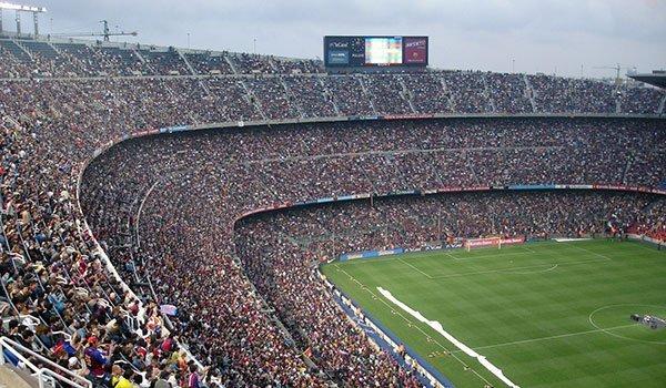 Football stadium full