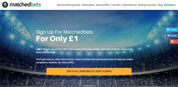 Matched Bets homepage