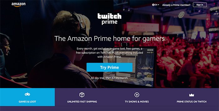 Amazon Twitch for gamers