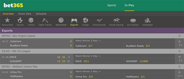 Bet365 live eSports