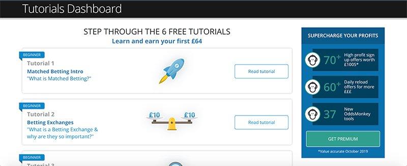 OddsMonkey free tutorials
