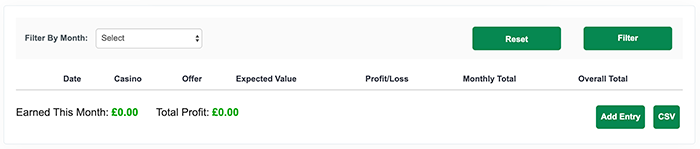 Bonus Accumulator profit tracker