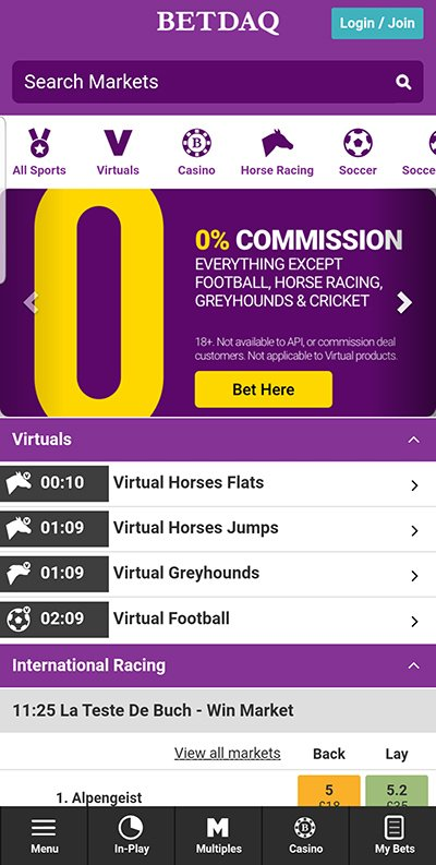 Betdaq mobile review
