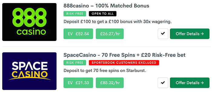 Bonus Accumulator offers