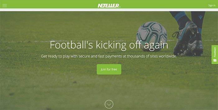 Neteller homepage