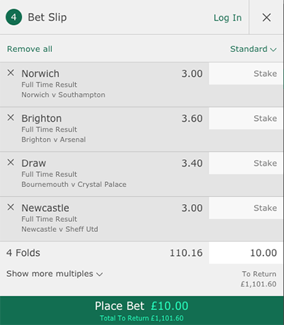 Bet365 accumulator bet slip
