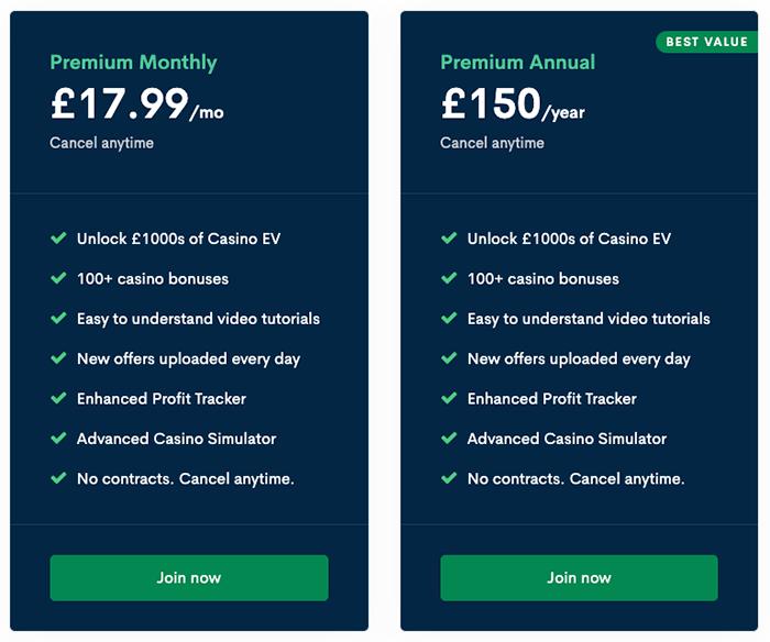 Bonus Accumulator pricing
