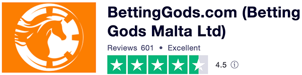 Betting Gods Trustpilot score